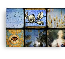 Six Scenes Blue Canvas Print