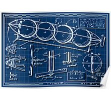 Kids Plane Project on Blueprint Poster