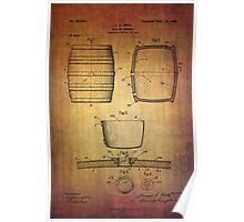 J.c.roth Beer Keg Patent From 1898 Poster