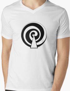 Mandala 9 Back In Black Mens V-Neck T-Shirt