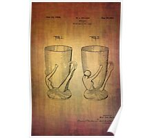 Beer Mugs Patent From 1934 Poster