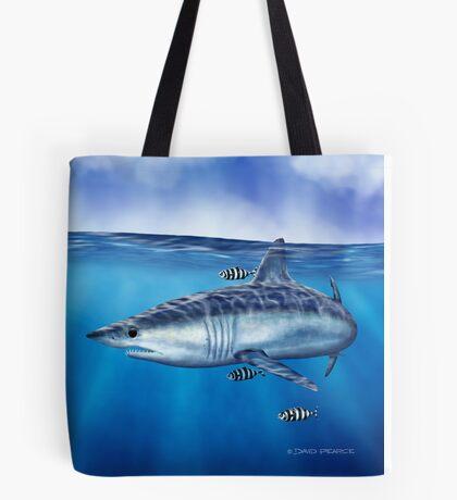 Searching - Mako Shark Tote Bag