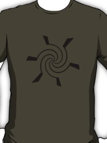 Mandala 12 Back In Black T-Shirt