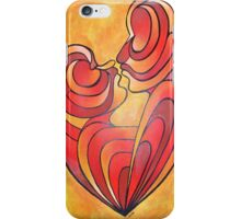 Lovers Kiss And Their Bodies Form A Love Heart iPhone Case/Skin