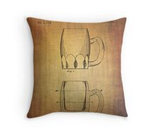 Beer Mug Patent From 1872 Throw Pillow