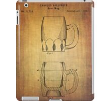 Beer Mug Patent From 1872 iPad Case/Skin