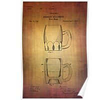 Beer Mug Patent From 1872 Poster