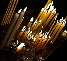 Candels in orthodox church by Milonk