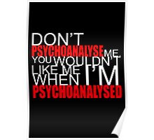 Don't Psychoanalyse Me. Poster