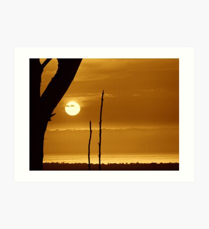 Sepia Sunrise..... Art Print