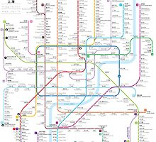 Shanghai metro map  by Jug Cerovic
