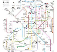 Madrid metro map Photographic Print