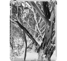Snowgums in Snow BW iPad Case/Skin