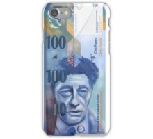 100 Swiss Francs Note Bill - Front side iPhone Case/Skin