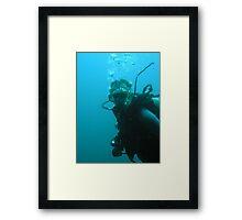 Scuba Diver Framed Print