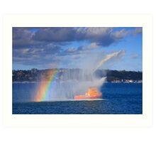 Fire Water Rainbow Art Print