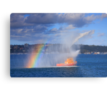 Fire Water Rainbow Metal Print