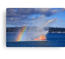 Fire Water Rainbow Canvas Print