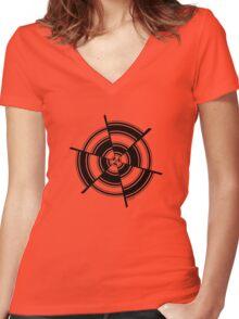 Mandala 28 Back In Black Women's Fitted V-Neck T-Shirt