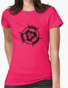 Mandala 28 Back In Black Womens Fitted T-Shirt