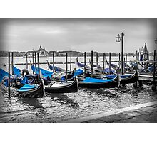 Blue Gondola Photographic Print