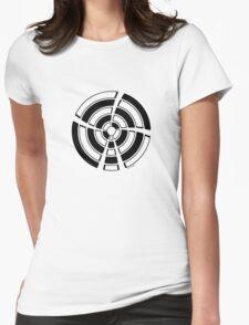 Mandala 25 Back In Black Womens Fitted T-Shirt