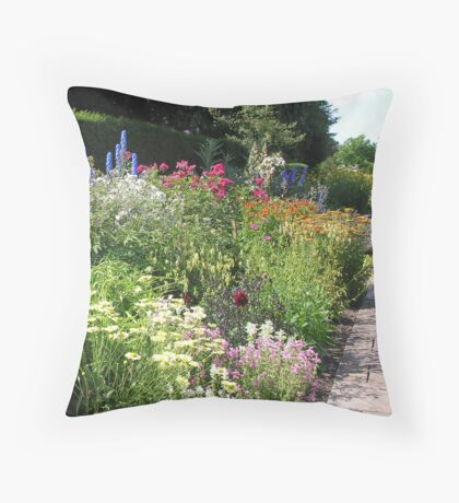 The Herbaceous Border Throw Pillow