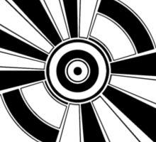 Mandala 17 Back In Black Sticker
