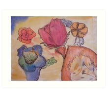 Asorted Flower drawing  Art Print
