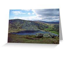 Mountain lake, Wicklow Greeting Card