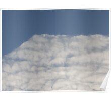 Fluffy White Sky Poster