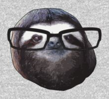 Hipster Sloth by spectralstories