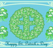 Shamrock wreath with cross by kabsannie
