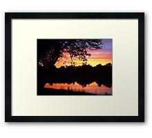 Boring sunset shot Framed Print