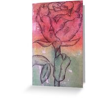 Coloured Rose Greeting Card
