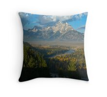 Snake River Overlook - Grand Tetons National Park Throw Pillow