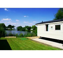 Caravan - Looking Over The Lake With Clear Blue Skies Photographic Print