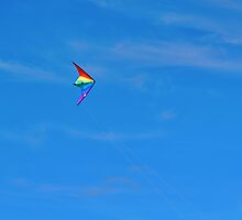 Flying A Kite In The Wind by Joel Kempson