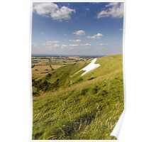 The Westbury White Horse, Wiltshire, UK Poster