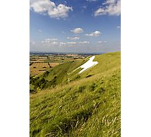 The Westbury White Horse, Wiltshire, UK Photographic Print