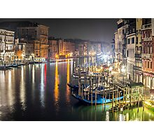 Rialto Night View Photographic Print