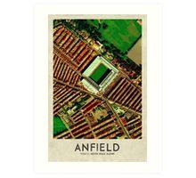 Vintage Football Grounds - Anfield (Liverpool FC) Art Print