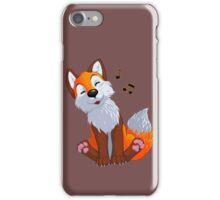 Singing, swinging foxy iPhone Case/Skin