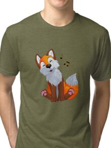 Singing, swinging foxy Tri-blend T-Shirt