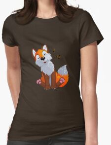 Singing, swinging foxy Womens Fitted T-Shirt
