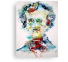 EDGAR ALLAN POE - watercolor portrait Canvas Print