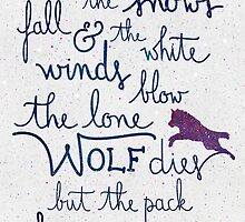 The lone wolf dies but the pack survives by earthlightened