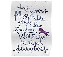 The lone wolf dies but the pack survives Poster