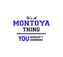 It's a MONTOYA thing, you wouldn't understand !! by thenamer