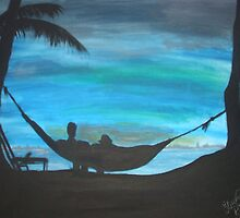 sunset hammock by staceybedwell